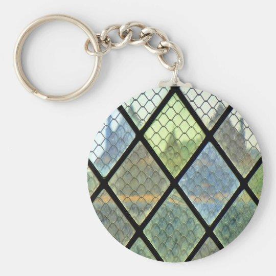 Fenster-Kunst Standard Runder Schlüsselanhänger