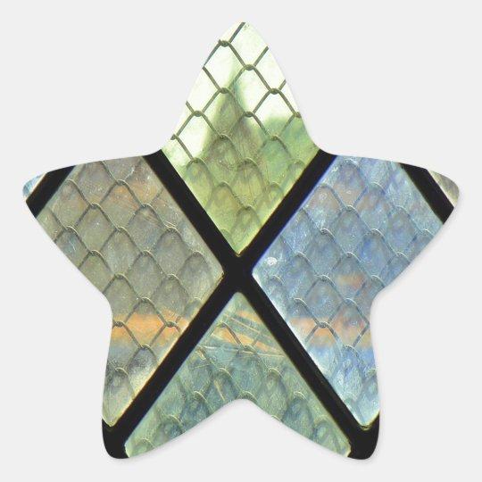 Fenster-Kunst Stern-Aufkleber
