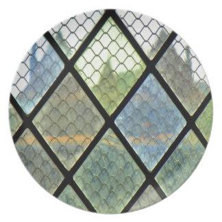 Fenster-Kunst Teller
