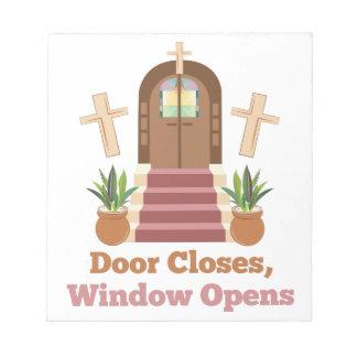 Fenster öffnet sich notizblock