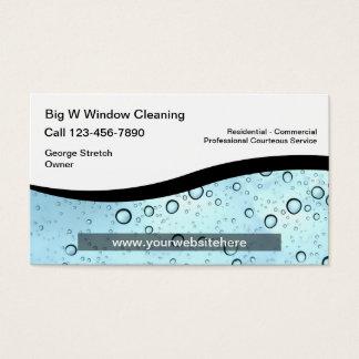 Fenster-Reinigungs-Visitenkarten Visitenkarte