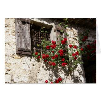 Fenster und Rosen Karte
