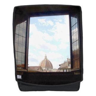 Fenster zu Florenz-Tasche Rucksack