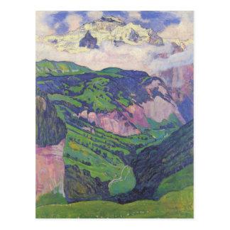 Ferdinand Hodler- die Dame des Isenfluh Postkarte
