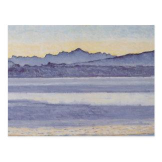 Ferdinand Hodler- Genfersee mit Mont Blanc Postkarte