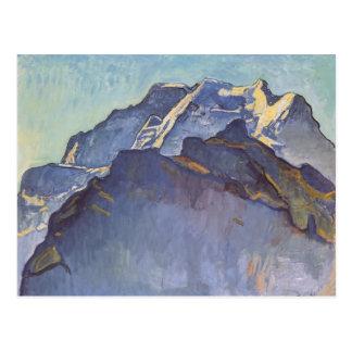 Ferdinand Hodler- Jungfrau Gebirgsmassiv und Postkarte