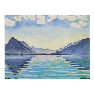 Ferdinand Hodler- See Thun, symmetrische Reflexion Postkarte