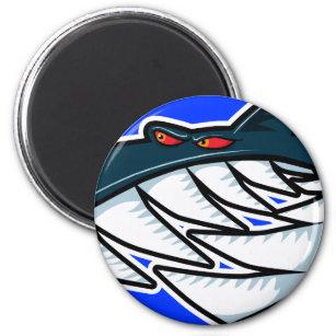 Fergus Sharky Runder Magnet 5,1 Cm