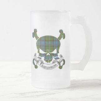 Fergusontartan-Schädel-Tasse Mattglas Bierglas
