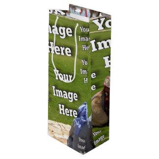 Ferien-Bild-Schablone Geschenktüte Für Weinflaschen