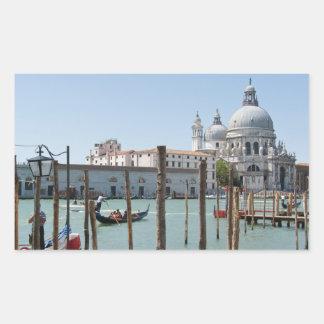 Ferien im Venedig-Landschaftsrechteckigen Rechteckiger Aufkleber