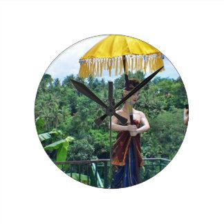 Ferien in Bali Runde Wanduhr
