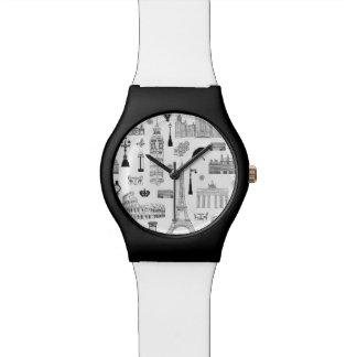 Ferien in Europa-Muster Armbanduhr