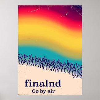"Ferien""Regenbogen"" Plakatdruck Finnlands Retro Poster"
