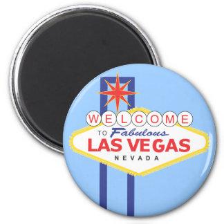 Ferien-Reise-Magnet Las Vegass Nevada Runder Magnet 5,7 Cm
