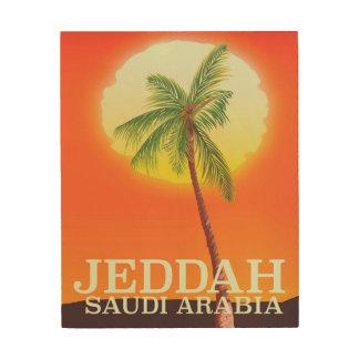 Ferienplakat Dschiddas Saudi-Arabien Holzdruck