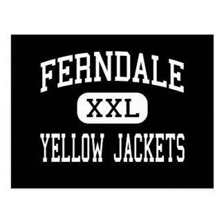 Ferndale - gelbe Jacken - Bereich - Johnstown Postkarte