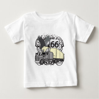Fernlastfahrer des Weg-66 Baby T-shirt