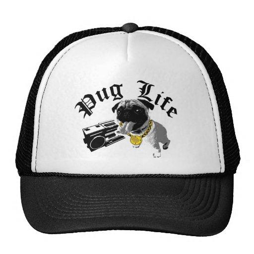 Fernlastfahrer-Hut des Mops-Leben-$17,95 (11 Farbe Baseball Mützen