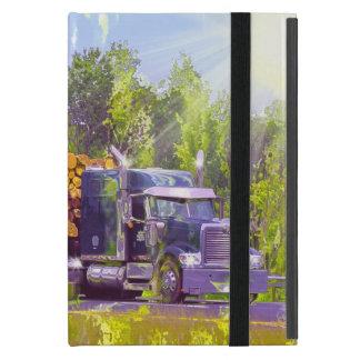 Fernlastfahrer-Lastwagen-Fahrer-aufzeichnenlkw Hülle Fürs iPad Mini