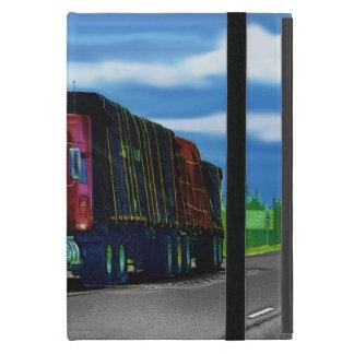 Fernlastfahrer-Lastwagen-Fahrer-roter Fracht-LKW iPad Mini Schutzhülle