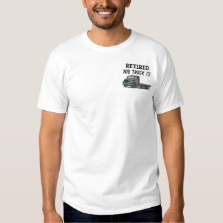 Fernlastfahrer stickten Shirt