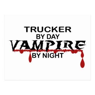 Fernlastfahrer-Vampir bis zum Nacht Postkarte