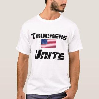 Fernlastfahrer vereinigen gegen Regs und T-Shirt