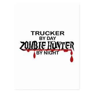 Fernlastfahrer-Zombie-Jäger Postkarte