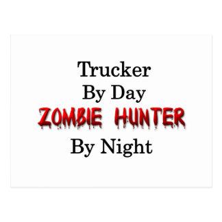 Fernlastfahrer-/Zombie-Jäger Postkarte