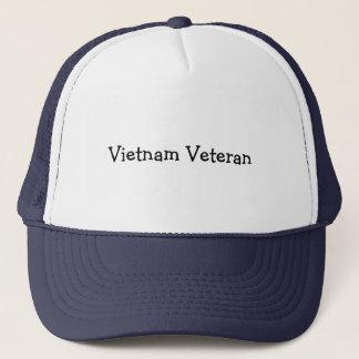 """Fernlastfahrerhut mit """"Vietnam-Veteran """" Truckerkappe"""