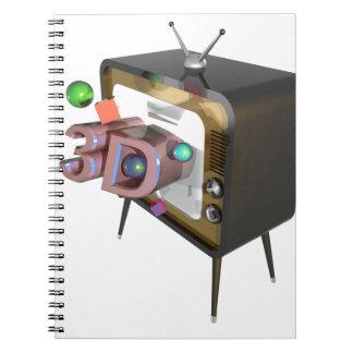 Fernsehen 3D Spiral Notizblock