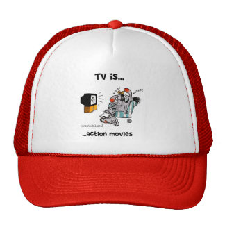 Fernsehen ist… Actionfilme Baseball Caps