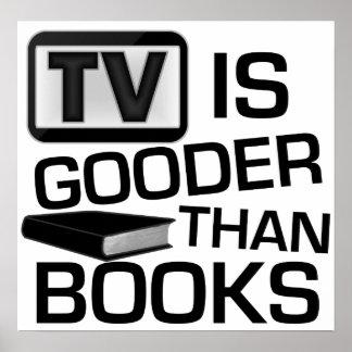 Fernsehen ist Gooder als die lustigen Bücher Poster