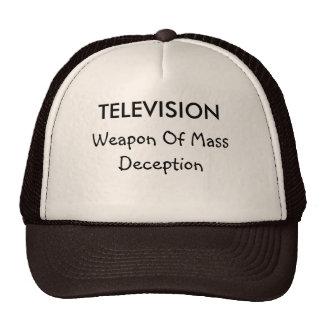 Fernsehen und Täuschungs-Hut Truckercap