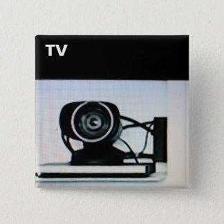 Fernsehknopf-Nr. 6 Quadratischer Button 5,1 Cm