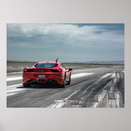 Ferrari 458 Italien bereit zu laufen Posterdruck