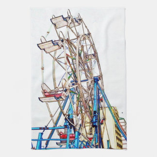 Ferris Rad-Kreide Kontur durch Shirley Taylor Küchentuch