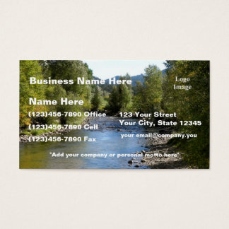 (Fertigen Sie) besonders an, Colorado-Strom-Foto - Visitenkarte