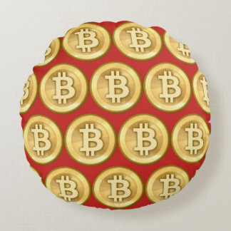 Fertigen Sie Bitcoin besonders an Rundes Kissen