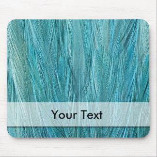 Fertigen Sie blaue Feder besonders an Mousepads