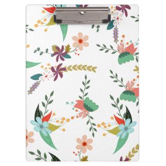 Fertigen Sie Blumen-Muster besonders an Klemmbrett