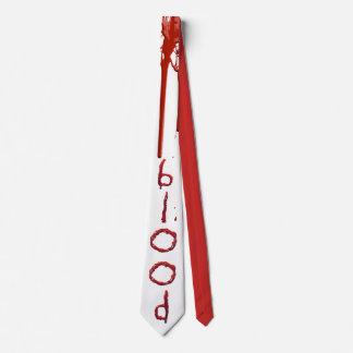 Fertigen Sie blutige Bluttext-Krawatte besonders Krawatte