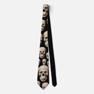 Fertigen Sie coole Schädel-Party-Krawatte Krawatte