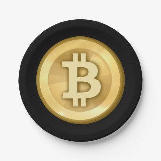 Fertigen Sie cooles Bitcoin besonders an Pappteller