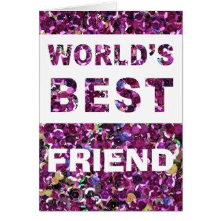 Fertigen Sie der beste Freund-Rosa-Paillette der Karte