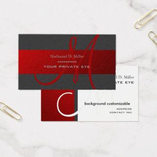Fertigen Sie diese Monogramm-Visitenkarte Visitenkarte