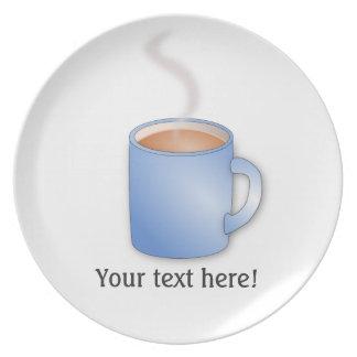 Fertigen Sie diese Tasse der Kaffeegraphik Party Teller