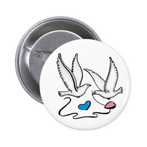 FERTIGEN Sie diesen Hochzeits-Knopf besonders an! Runder Button 5,1 Cm