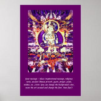 Fertigen Sie dieses Plakat - glücklichen Buddha